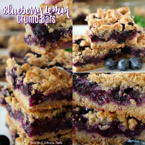 These delicious Blueberry Lemon Crumb Bars are full of juicy blueberries, lemon goodness and baked to perfection.