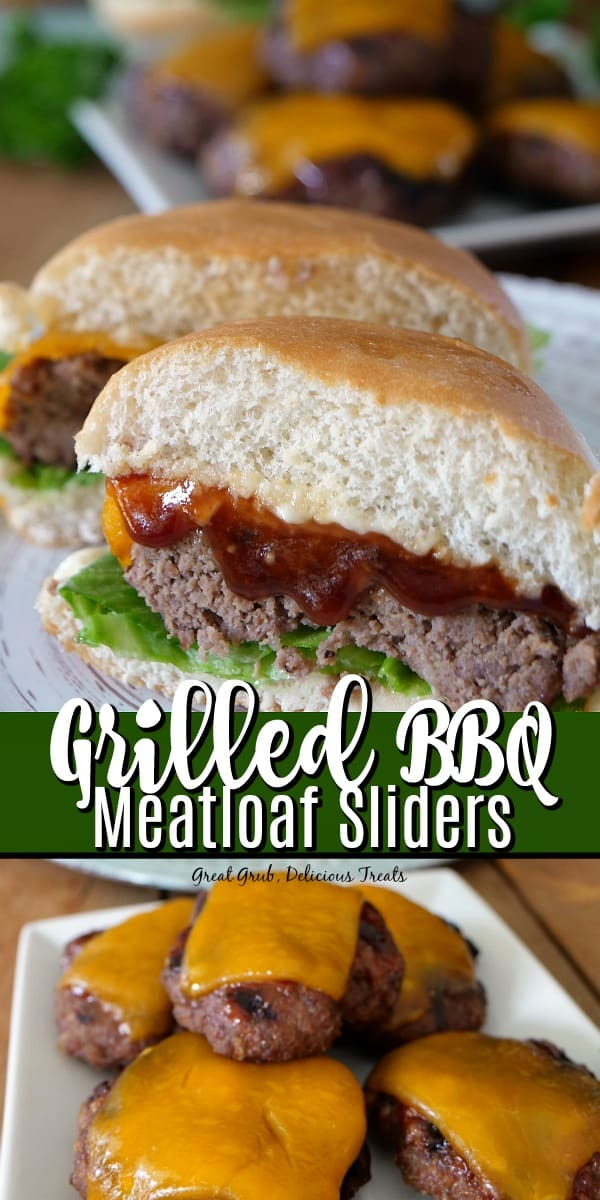 Grilled BBQ Meatloaf Sliders are smothered in barbecue sauce, grilled to perfection and made into a slider.