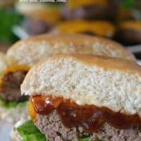 Grilled BBQ Meatloaf Sliders