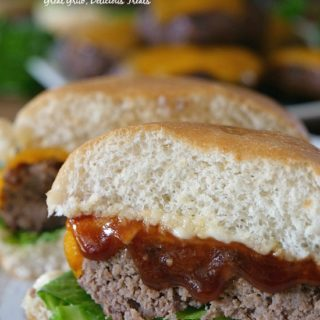 Grilled BBQ Meatloaf Sliders