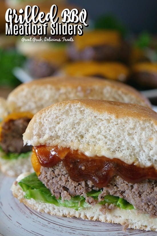 Grilled BBQ Meatloaf Sliders are a great way to enjoy a meatloaf sandwich off the grill.