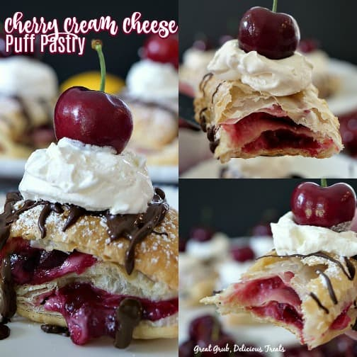 Cherry Cream Cheese Puff Pastry