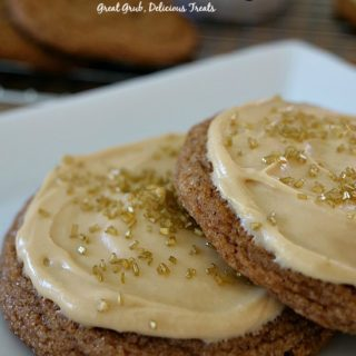 Soft Molasses Cookies with Molasses Frosting