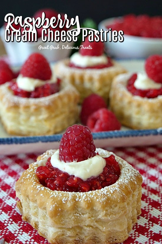 Raspberry Cream Cheese Pastries have a cream cheese filling, topped with a homemade raspberry sauce.