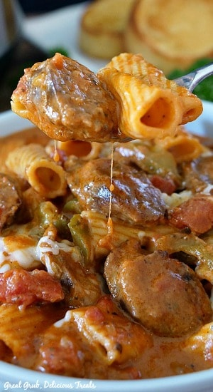 Instant Pot Italian Sausage Pasta is super flavorful, full of Italian sausage, pasta and cheese.