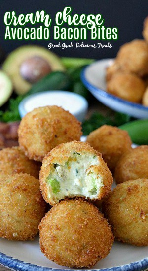 Cream Cheese Avocado Bacon Bites are filled with cream cheese, avocados, bacon, cheese and fried to a golden brown.