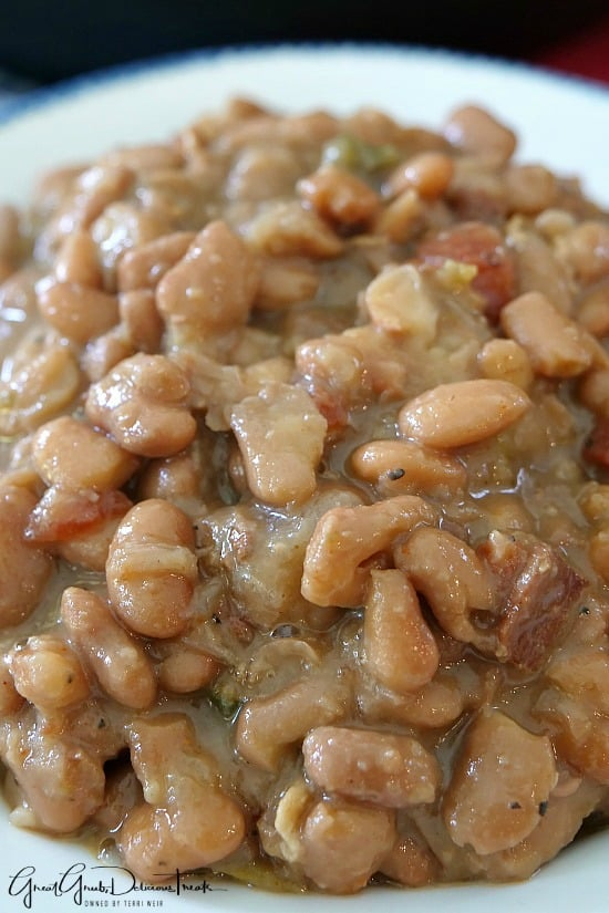 Instant Pot Pinto Beans have bacon, jalapenos, onions, garlic and seasoned just perfectly.