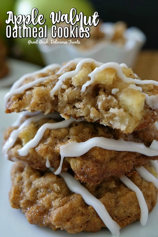 Apple Walnut Oatmeal Cookies are soft, chewy and thick delicious cookies.