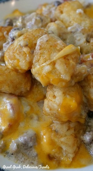 Mexican Tater Tot Casserole is a spinoff on the classic tater tot casserole with a Mexican flare.