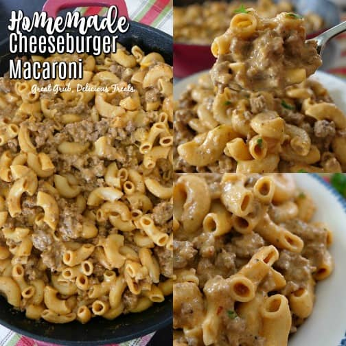 Homemade Cheeseburger Macaroni is so easy and quick, a 30 minute meal that the whole family is going to love.