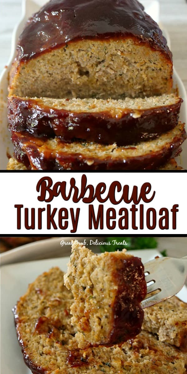 Barbecue Turkey Meatloaf has a secret ingredient that makes this meatloaf delicious, then topped with BBQ sauce and baked.