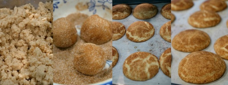 Snickerdoodle Cookies- In process shots