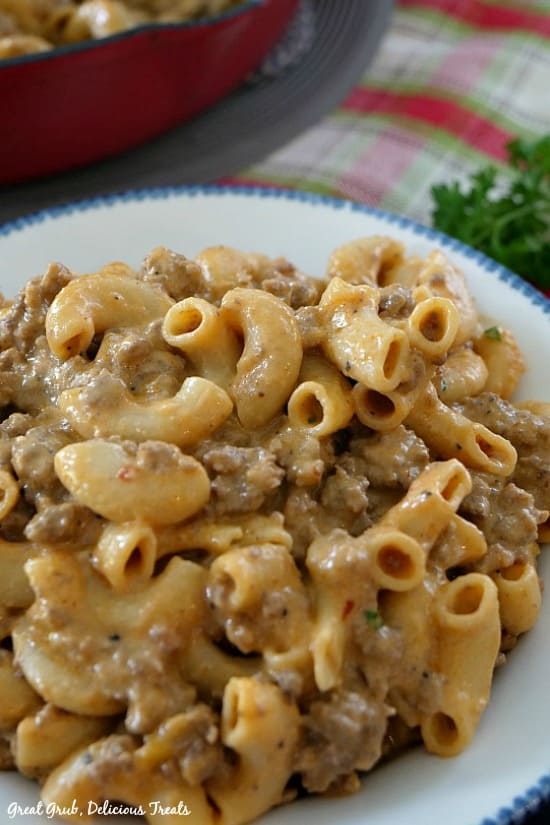 Homemade Cheeseburger Macaroni is full of delicious flavor, is easy to make and loaded with ground beef, cheese and pasta.