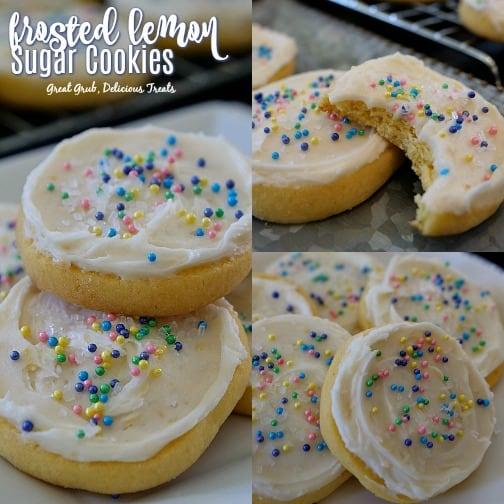 Frosted Lemon Sugar Cookies are the best lemon sugar cookie recipe.