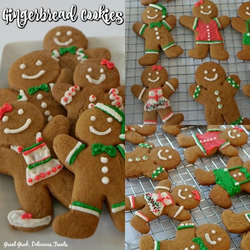 Gingerbread Cookies are chewy and so soft and decorated for the Christmas holidays.
