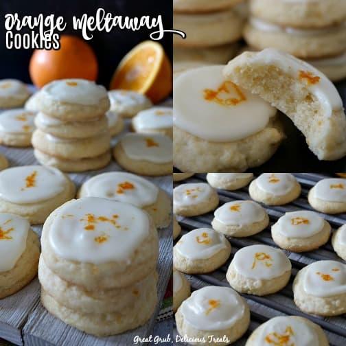 Orange Meltaway Cookies are orange flavored cookies with an orange flavored icing.
