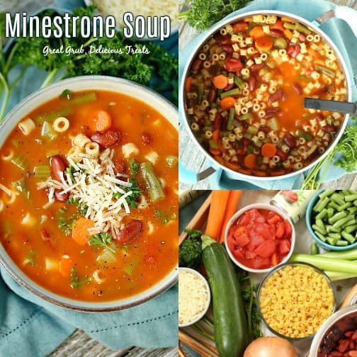This Minestrone Soup recipe is tasty, full of vegetables and deliciously seasoned.