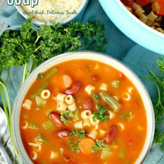 This Minestrone Soup is hearty and loaded with lots of veggies, deliciously flavored and the perfect soup to enjoy on a cold night.