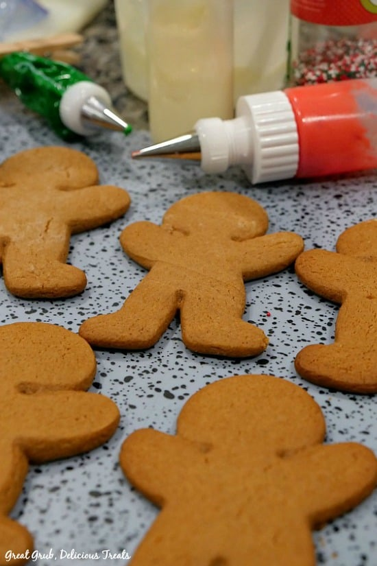 Gingerbread Cookies - In process shot