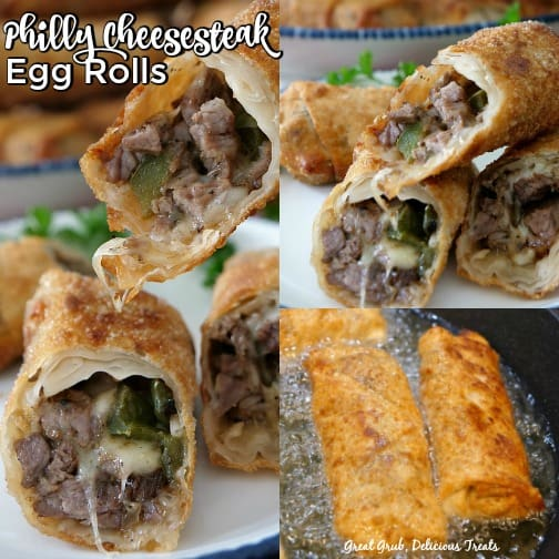 Philly Cheesesteak Egg Rolls tastes just like a Philly cheesesteak sandwich.