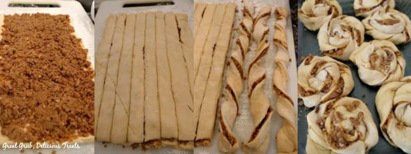 Easy Crescent Cinnamon Rolls - In process shots