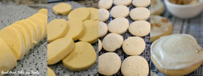 Banana Nut Frosted Cookies - In process shots