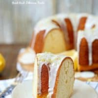 Lemon Bundt Cake with a lemon glaze.