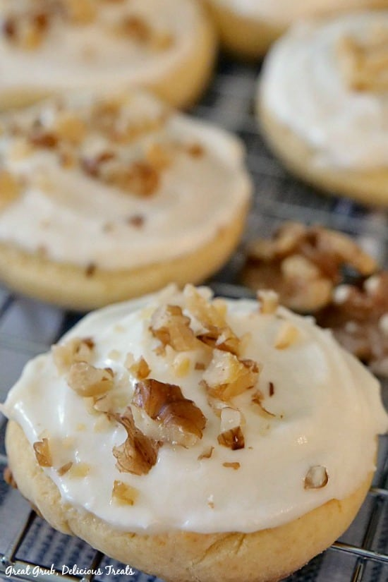 Banana Nut Frosted Cookies