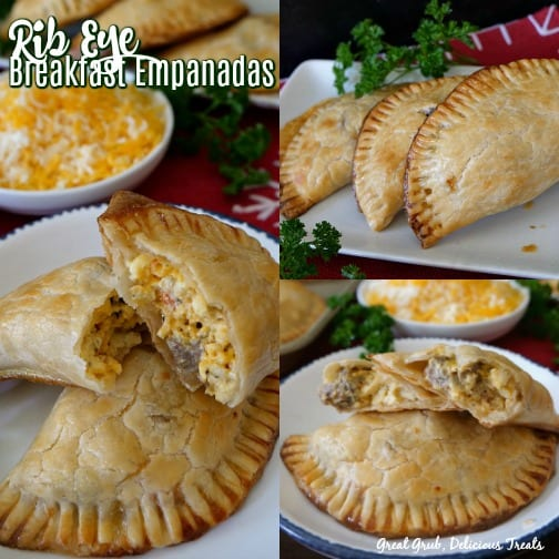 Rib Eye Breakfast Empanadas are delicious and loaded with leftover rib eye.