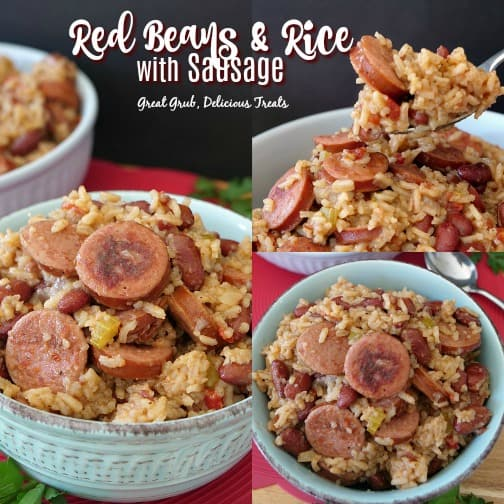 Red Beans and Rice with Sausage is an easy weeknight meal filled with sausage, tender rice and red beans.