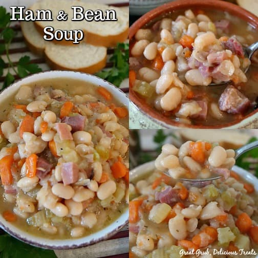 Ham and Bean Soup is hearty, delicious, filling and a scrumptious soup recipe everyone will love.