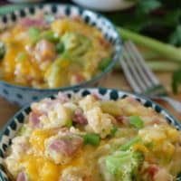 Ham Broccoli Rice Casserole is a delicious comfort food recipe loaded with leftover ham, broccoli florets, rice, and cheese.