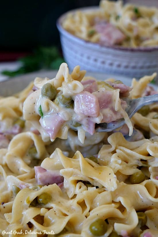 One Pot Ham and Noodle Casserole is easy, delicious and can be on the table in about 30 minutes.