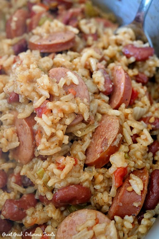 Red Beans and Rice with Sausage is hearty, delicious, and an easy one pot meal.