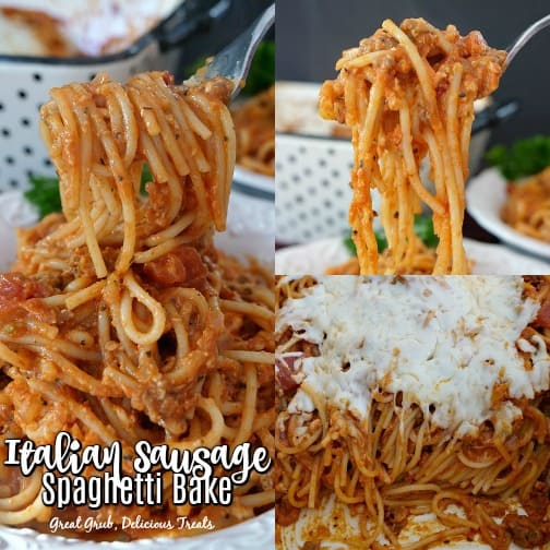 Italian Sausage Spaghetti Bake is a delicious and hearty pasta recipe that is baked in the oven.