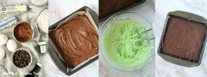 Chocolate Mint Brownies - In Process Shots