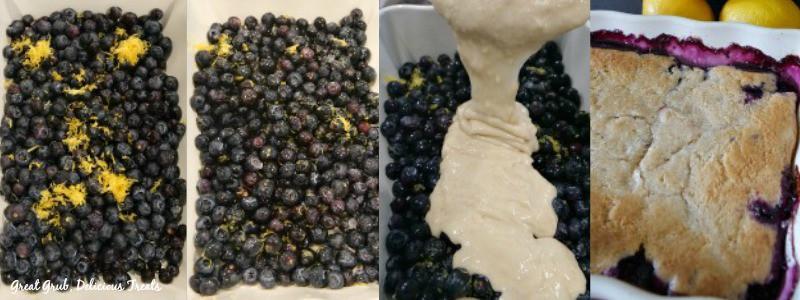 Blueberry Lemon Pudding Cake - In Process Shots