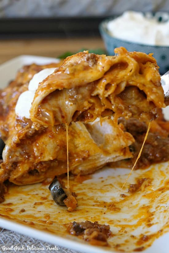 Cheesy Ground Beef Enchiladas are cheesy, full of ground beef and seasoned perfectly.