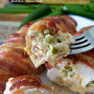 Bacon Wrapped Jalapeno Popper Chicken