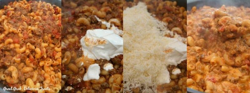 Cheesy Italian Pasta - In process shots