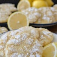 Lemon Crinkle Cookies are a delicious cookie recipe that is soft and chewy and lightly coated with powdered sugar.